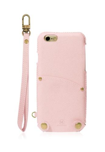Monocozzi Posh Soft PU Leather Pouch for iPhone 7 - Coral MO983AC09IUWHK_1