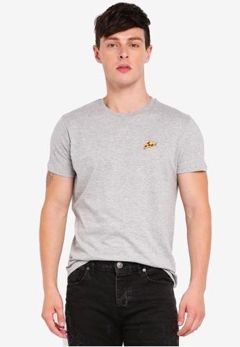 Brave Soul grey Crew Neck T-Shirt 2A280AA7468456GS_1