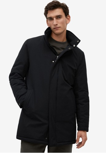 MANGO Man black Waterproof Quilted Parka 82CB9AA6C0A31CGS_1