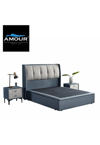 AMOUR AMOUR Premium PU leather Storage Bed EB652HL0F8D9C8GS_1
