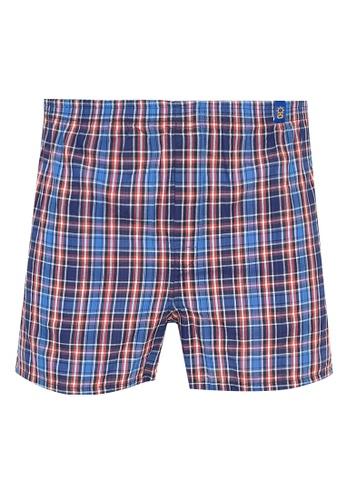 Sunjoy orange Checkered Boxer Shorts E33C8USD04BBCAGS_1