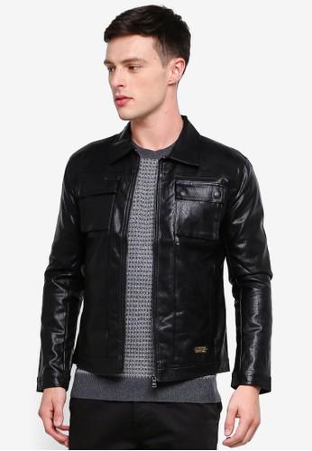 High Cultured black Biker Jacket 74 70F18AA829E528GS_1