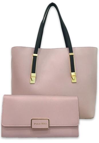 Polo Hill pink Polo Hill Zip Shopper Bag B12D9AC5BE7315GS_1