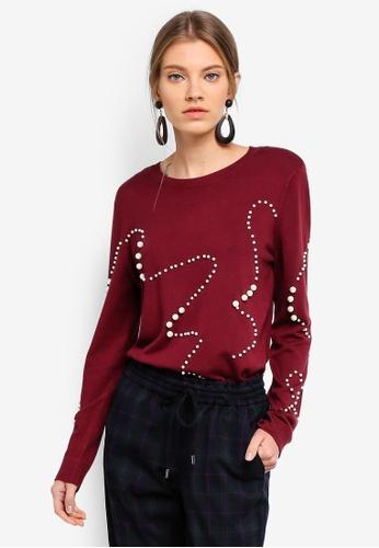 ESPRIT red Long Sleeve Sweater 38B92AA78B7506GS_1