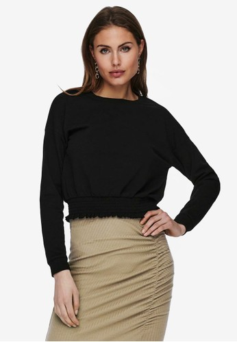 ONLY black Cropped Sweater 79D51AAD45FE7FGS_1