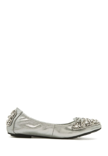 PAZZION grey and silver Ballerina Flats PA624SH01UKWMY_1