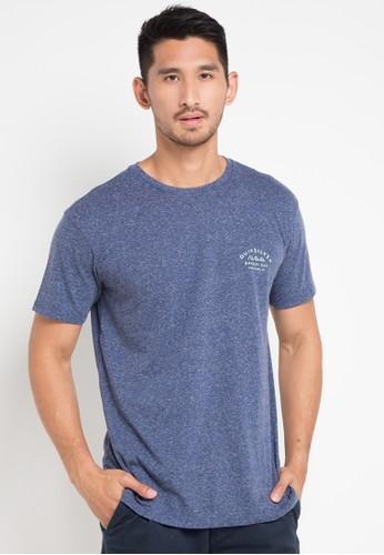 Quiksilver blue Banzai Bar T-Shirt 08FB2AA405D4BDGS_1