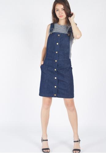 Moss Fashion navy Ardelia Overall Dress in Denim FBF21AA4F1CBAAGS_1