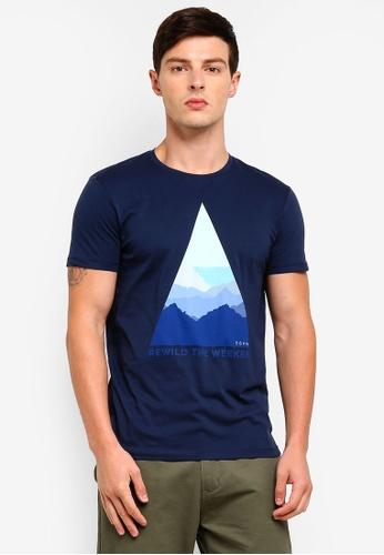 ESPRIT 海軍藍色 短袖T恤 C7B5FAA9561D57GS_1