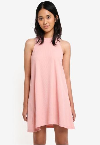 Penshoppe pink Regular Length Trapeze Dress 01857AA24F6240GS_1