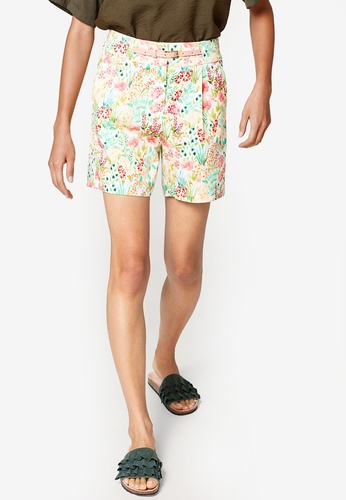 ESPRIT white and multi Woven Regular Shorts 8CCACAAF28B0C9GS_1