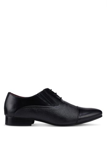 Acuto black Leather Business Shoes 3E447SHB8B0EDCGS_1