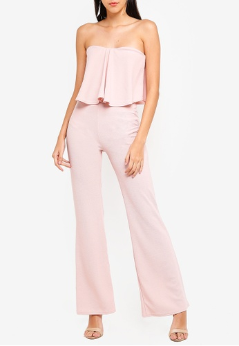 3ab1965e536 Buy MISSGUIDED Double Layer Wide Leg Jumpsuit Online on ZALORA Singapore