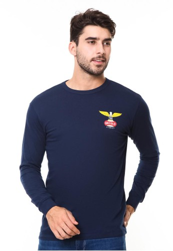 bloop navy Bloop Tshirt Syn Eagle Navy Ls - BLP-RE001 73825AA4F8180BGS_1
