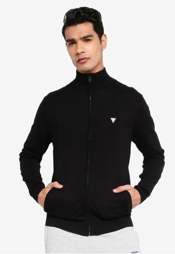 GUESS black Jermaine Zipped Card Jacket E4CD0AAE0E4F18GS_1