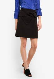 Dorothy Perkins black Bow Tie Mini Skirt DO816AA0RP4HMY_1