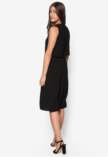 Collection 層次五分連身寬褲、 服飾、 服飾ZALORACollection層次五分連身寬褲最新折價