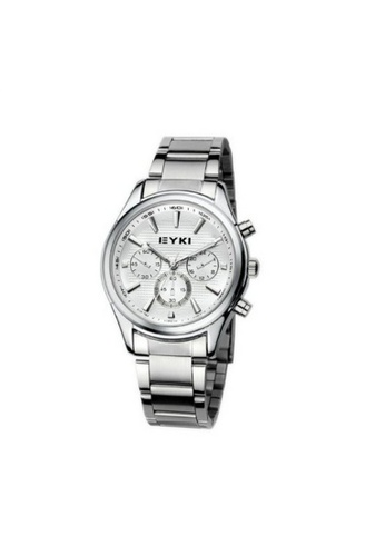 Eyki white and silver Eyki Eet8581 Man Steel Watch (Silver White) EY078AC68ROPMY_1
