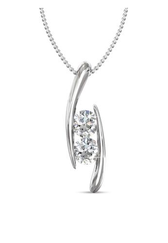Her Jewellery silver Swarovski® Zirconia -Infinity Pendant (18K White Gold Plated) Her Jewellery HE581AC0RDPOMY_1