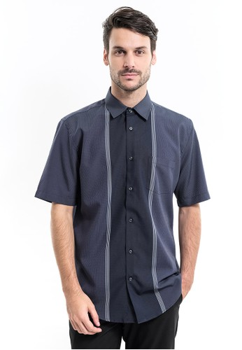 MANLY navy Manly Beccari Regular Fit Pattern Shirt 2752CAAE85F72EGS_1