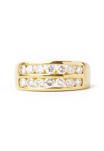 CEBUANA LHUILLIER JEWELRY gold 18 Karat Yellow Gold Lady Ring With Diamonds FD6ABACD8A0CA6GS_1
