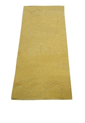 Martel yellow Martel Oversized Bath Towel A3846HL5CF7E80GS_1