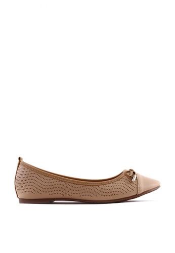 7soles beige Emily L Flat Shoes 9BDD7SHAF5B23EGS_1