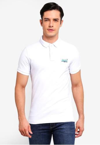 Superdry 白色 經典短袖POLO衫 EDCE4AA8BEAC67GS_1