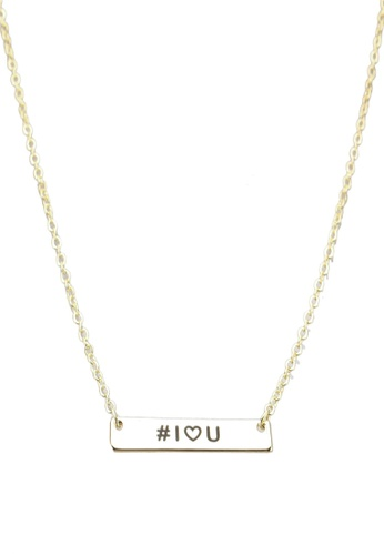 Pieces gold Malikka Necklace With Giftcard Box 77151AC2B980A4GS_1