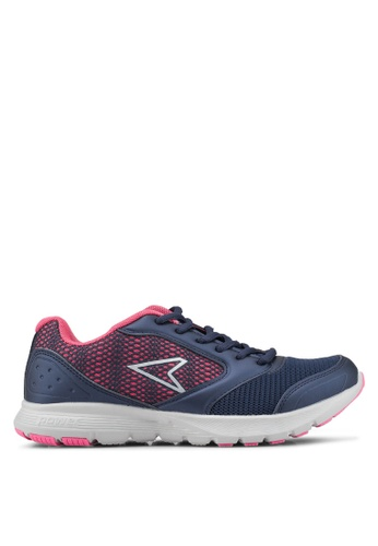 Power pink and navy Wave Droid RMX Running Shoes E4CACSH8F95344GS_1