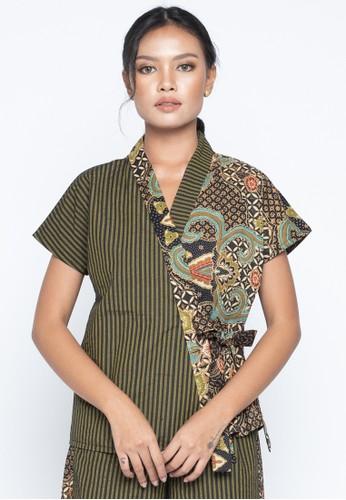 KICHI BATIK green Blouse Batik Hana D32A0AA89D7BB6GS_1