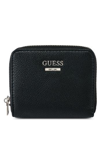 Guess black Sandrine Small Zip Around Wallet 2BA30AC43FEF7CGS_1
