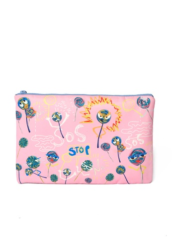 MASH-UP pink LOLLIPOP CLUTCH C5B05ACAB677D5GS_1