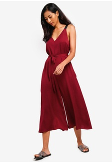 108f3c1db47 Basic Oversized Jumpsuit With Tie 5BB65AA6E05FCDGS 1