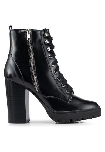 Miss Selfridge black Audrey Hiker Boots FD593SH12846AEGS_1
