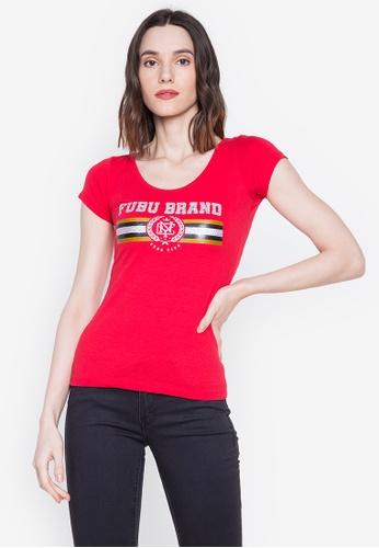 Fubu Queens red Fashion Blouse 6F1EFAA4D605B5GS_1