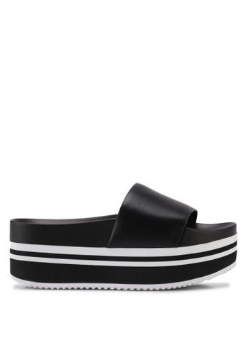 ALDO black Doemma Wedge Sandals 8529FSH5FDEA42GS_1