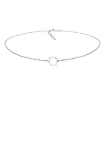 Elli Germany silver Circle Choker Necklace EL474AC0RFHIMY_1