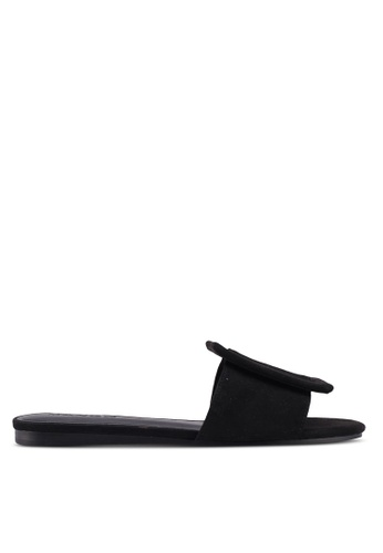 Mango black Buckle Flat Sandals 687C3SH176590DGS_1