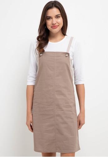 X8 brown Fitri Dresses 37586AAB0862D5GS_1