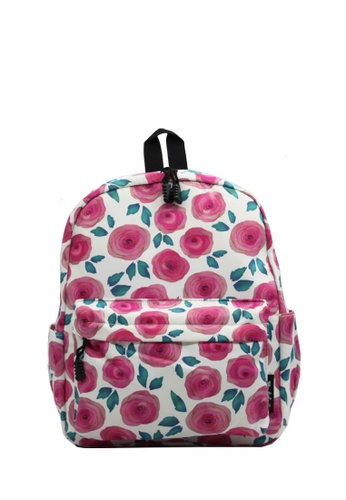 Wanderlust white and pink and multi Wanderlust Backpack Rosie 9BDF6KCA7B420DGS_1