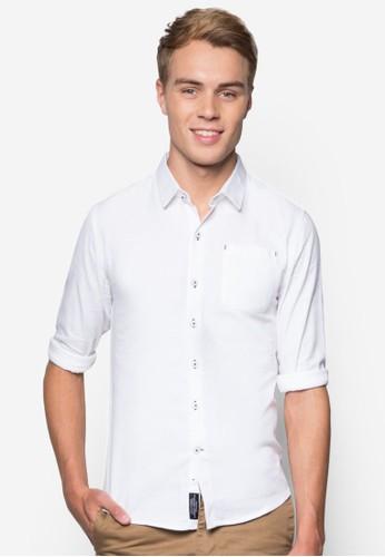 簡esprit官網約長袖襯衫, 服飾, 襯衫