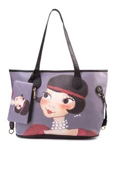 Laurent Printed Tote Bag