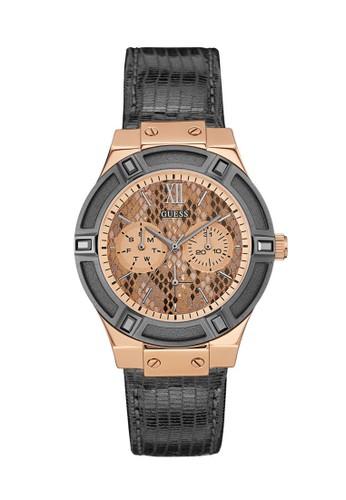 Guess Watch gold Guess Jam Tangan Wanita - Grey Rosegold - Leather Strap - W0289L4 AA39CAC960E7AEGS_1