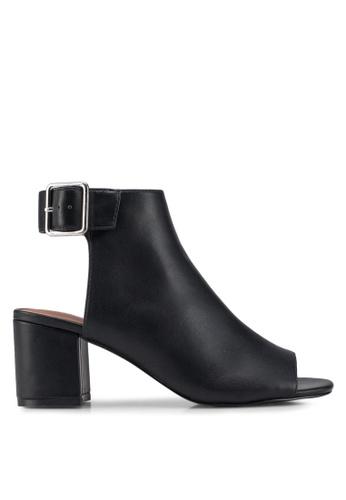 TOPSHOP black Danni Buckle Shoe Boots B02A1SH4F27433GS_1