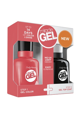 Sally Hansen red Miracle Gel Cuba Craze Duo Pack - Coral Carnival SA454BE90HDHPH_1