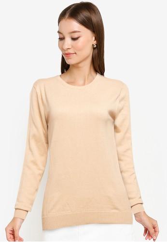 Button On beige Women Knitwear 76865AABA23D7EGS_1