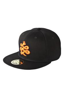 Baem Korea Orange Logo Snapback Black Baseball Cap