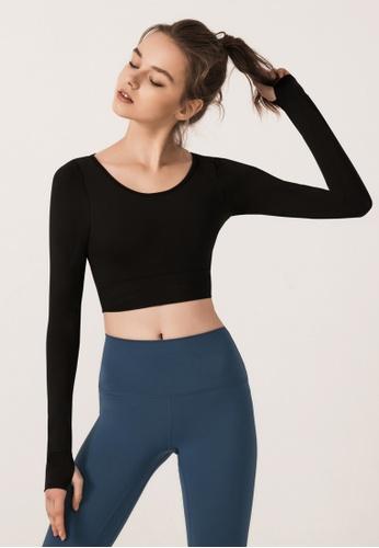 HAPPY FRIDAYS Women's Yoga Long Sleeve Tees DSG18230 49452AA4B2675EGS_1