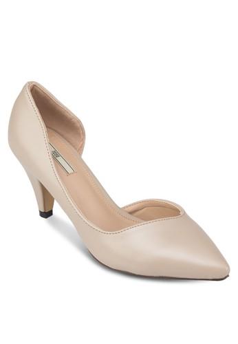 側鏤空尖頭高跟鞋, 女zalora鞋子評價鞋, 厚底高跟鞋